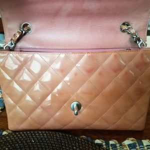 CHANEL Bags - Authentic Chanel Quilted Patented Leather Salmon